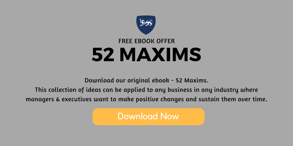 Change Management 52 Maxims Free EBook